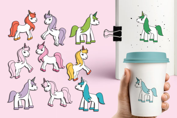 Print on Demand: Unicorn Bundle Graphic Illustrations By Revidevi - Image 6