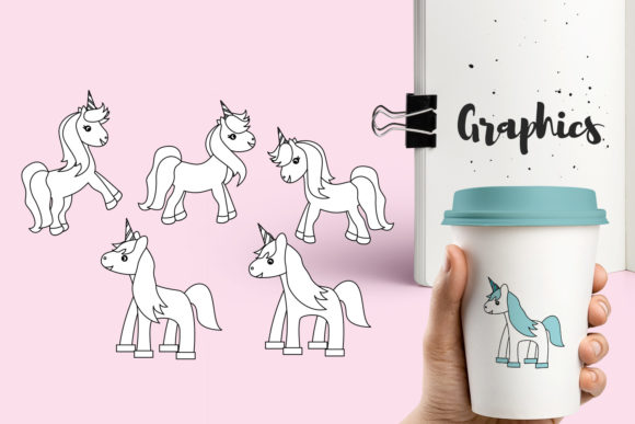 Print on Demand: Unicorn Bundle Graphic Illustrations By Revidevi - Image 3
