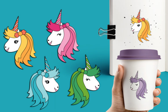 Print on Demand: Unicorn Bundle Graphic Illustrations By Revidevi - Image 7