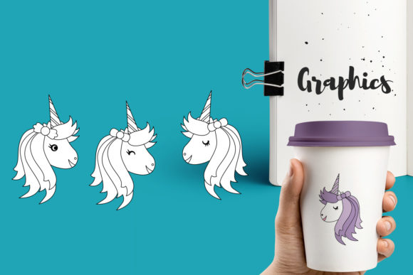 Print on Demand: Unicorn Bundle Graphic Illustrations By Revidevi - Image 4