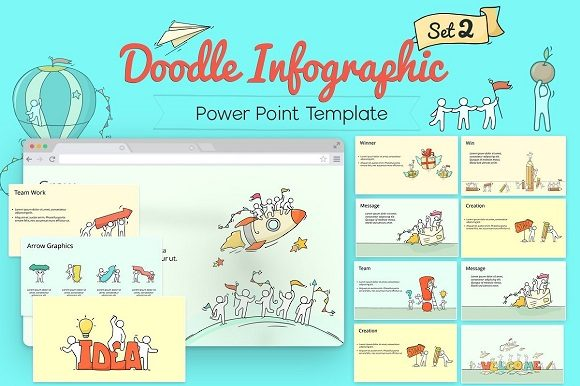 Doodle Infographic Graphic Presentation Templates By renure