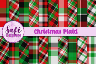 Christmas Plaid Backgrounds Graphic By Safi Designs