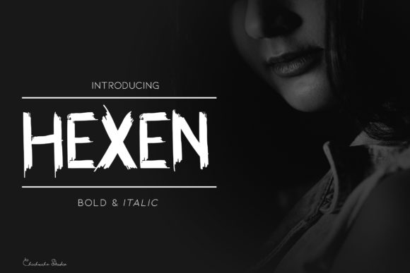 Print on Demand: Hexen Display Font By Chichucha - Image 1