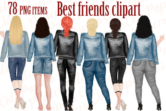 Best Friends Graphic Illustrations By ChiliPapers - Image 1