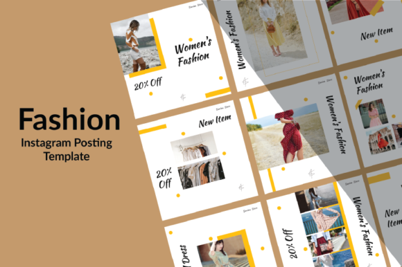 Print on Demand: Fashion Instagram Post Graphic Graphic Templates By nirmala.graphics