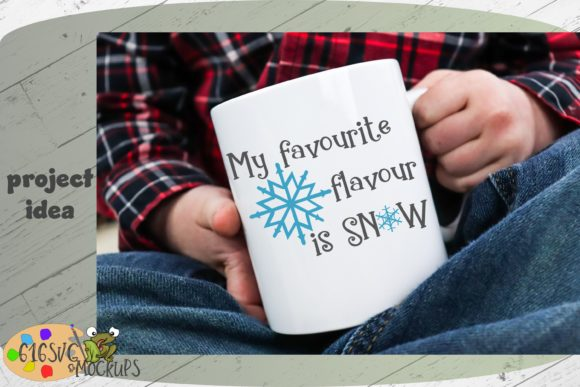 My Favorite Flavor is Snow Graphic Crafts By 616SVG - Image 6