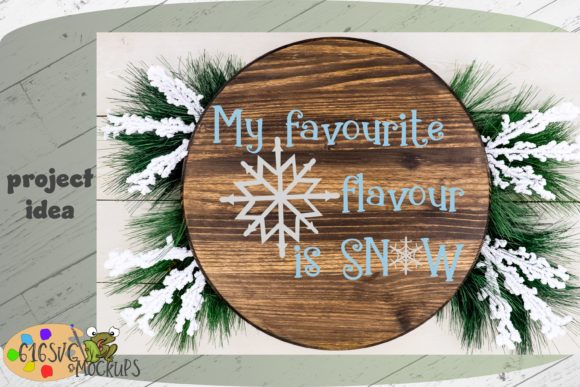 My Favorite Flavor is Snow Graphic Crafts By 616SVG - Image 7