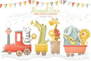 Musical Animals Tren Orchestra Clip Art Graphic By kabankova