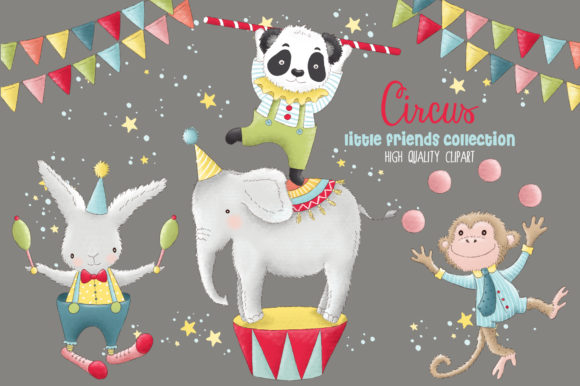 Animal Circus Carnival Clip Art Graphic Illustrations By kabankova - Image 2