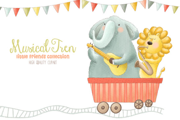 Musical Animals Tren Orchestra Clip Art Graphic Illustrations By kabankova - Image 3
