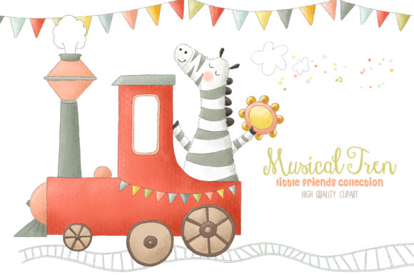 Musical Animals Tren Orchestra Clip Art Graphic Illustrations By kabankova - Image 4