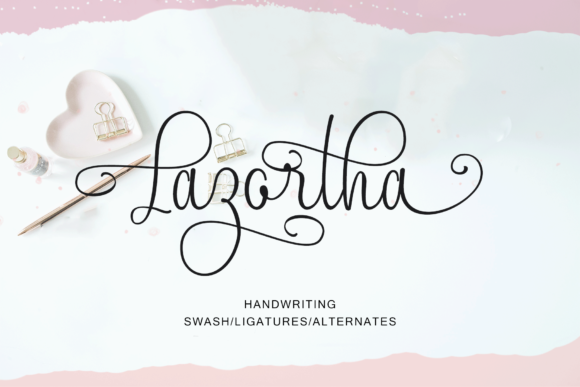Lazortha Manuscrita Fuente Por Rt Creative