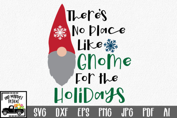 Gnome for the Holidays Svg Cut File Graphic Crafts By oldmarketdesigns