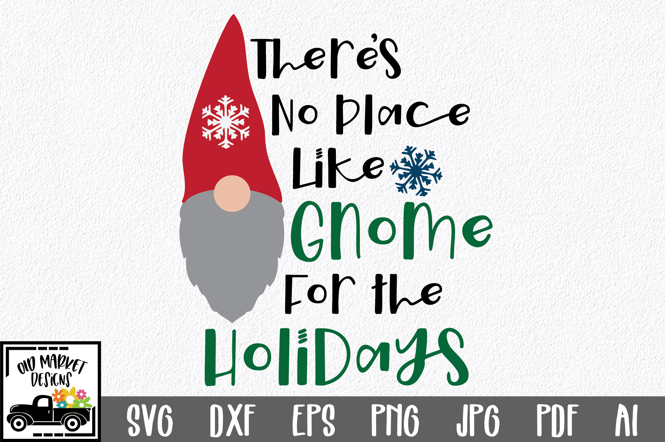 Download Free Gnome For The Holidays Svg Cut File Graphic By Oldmarketdesigns Creative Fabrica for Cricut Explore, Silhouette and other cutting machines.