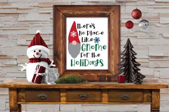 Print on Demand: Gnome for the Holidays Svg Cut File Graphic Crafts By oldmarketdesigns - Image 3