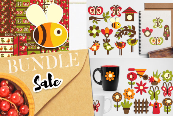 Print on Demand: Spring Garden Bundle Graphic Illustrations By Revidevi