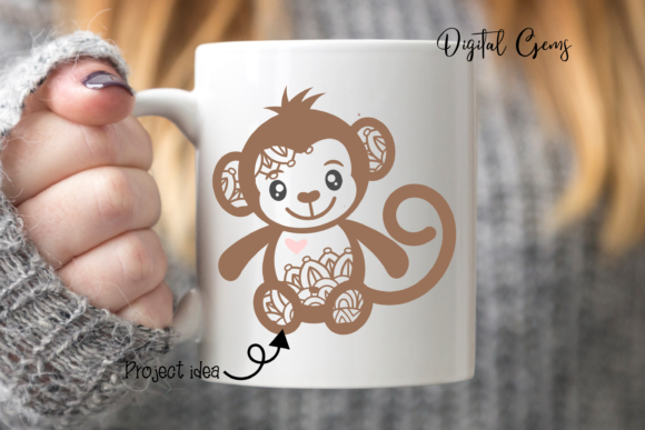 Monkey Design Graphic By Digital Gems Image 3