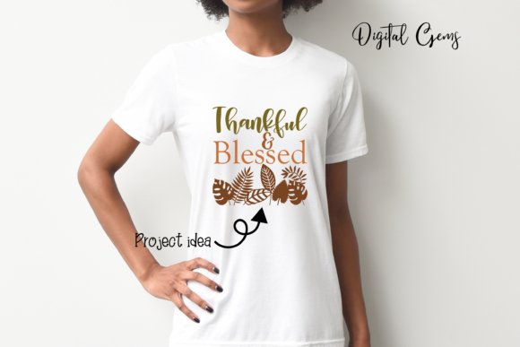 Thankful and Blessed Design Graphic Crafts By Digital Gems - Image 5