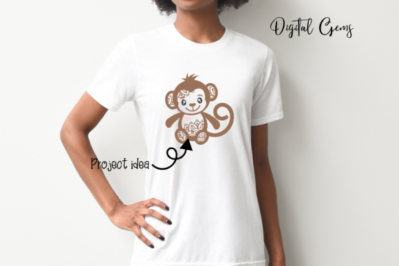 Monkey Design Graphic By Digital Gems Image 6