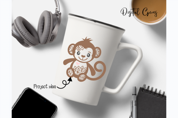 Monkey Design Graphic By Digital Gems Image 8