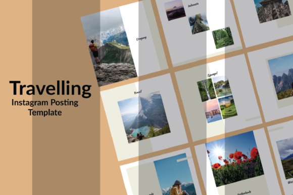 Print on Demand: Travelling Instagram Post Graphic Graphic Templates By nirmala.graphics