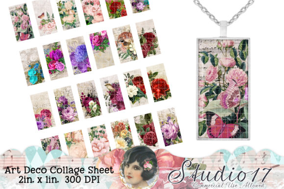 Print on Demand: Vintage Ephemera Collage Sheet Graphic Crafts By Studio 17 Designs