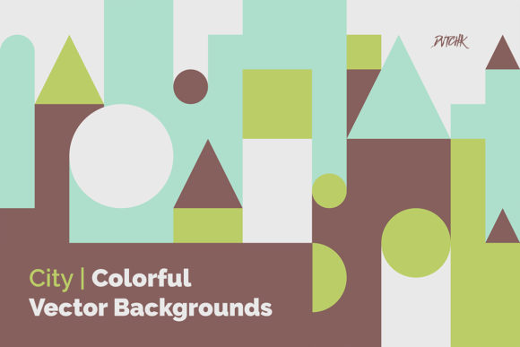City Colorful Vector Backgrounds Graphic Backgrounds By dvtchk - Image 1