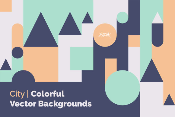 City Colorful Vector Backgrounds Graphic Backgrounds By dvtchk - Image 2