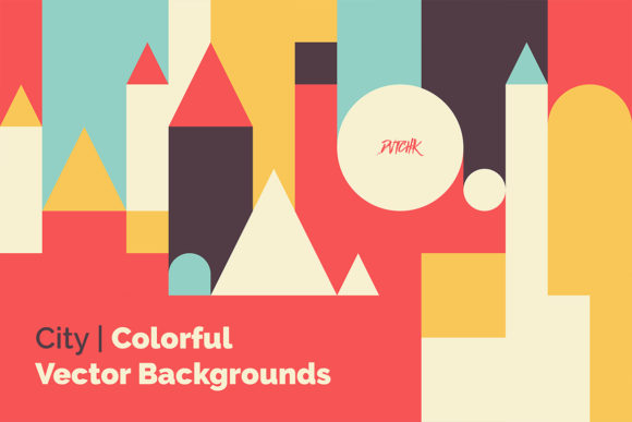 City Colorful Vector Backgrounds Graphic Backgrounds By dvtchk - Image 3