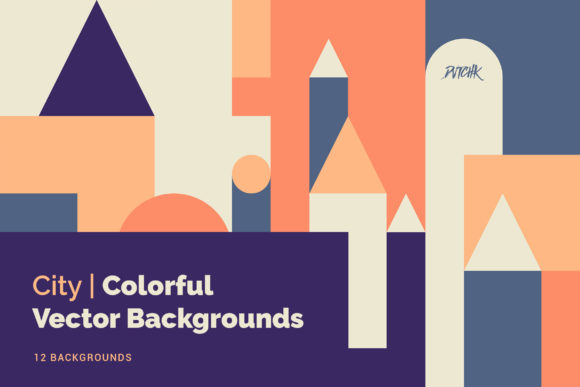 City Colorful Vector Backgrounds Graphic Backgrounds By dvtchk - Image 4