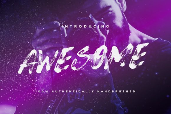 Print on Demand: Awesome Script & Handwritten Font By wornoutmedia
