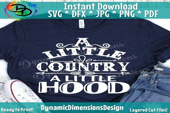 Print on Demand: A Little Country a Little Hood Graphic Crafts By dynamicdimensions