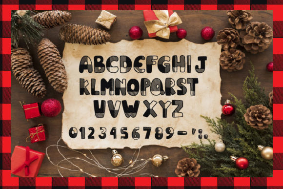 Christmas Plaid Font By Cute files Image 2