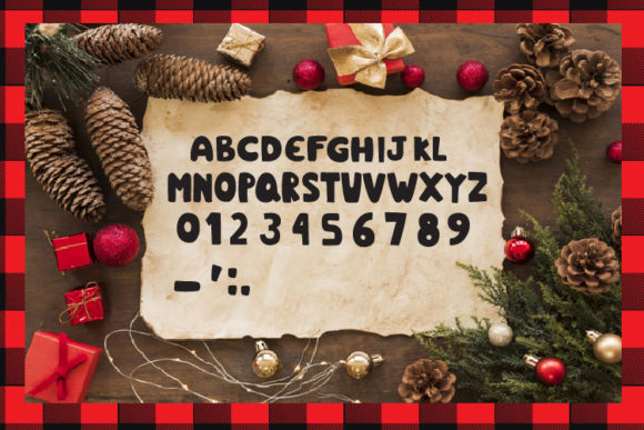 Christmas Plaid Font By Cute files Image 3