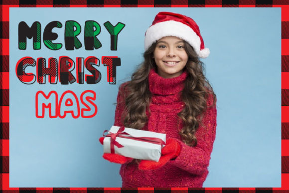 Christmas Plaid Font By Cute files Image 5