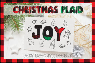 Christmas Plaid Display Font By Cute files