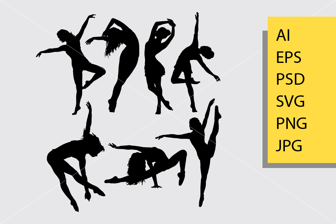 Download Free Dance Pose 2 Sihouette Graphic By Cove703 Creative Fabrica for Cricut Explore, Silhouette and other cutting machines.