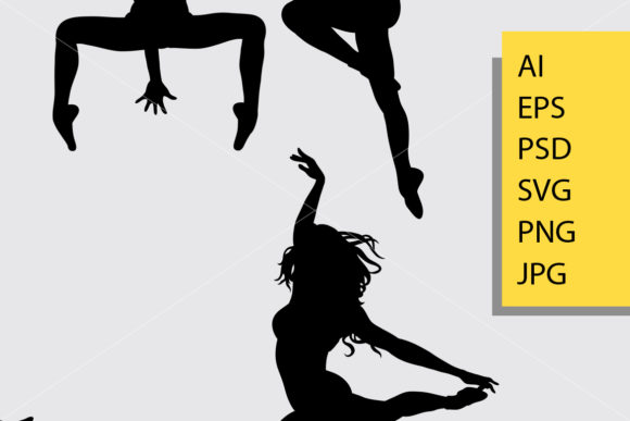 Download Free Dance Pose 3 Silhouette Graphic By Cove703 Creative Fabrica for Cricut Explore, Silhouette and other cutting machines.