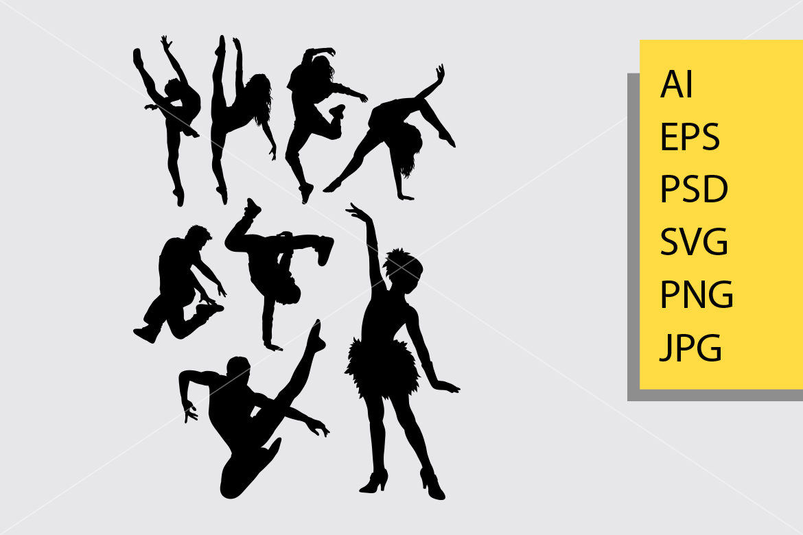 Download Free Dance Pose 4 Silhouette Graphic By Cove703 Creative Fabrica for Cricut Explore, Silhouette and other cutting machines.