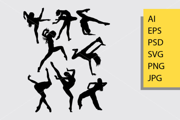 Dance Pose 5 Silhouette Graphic By Cove703