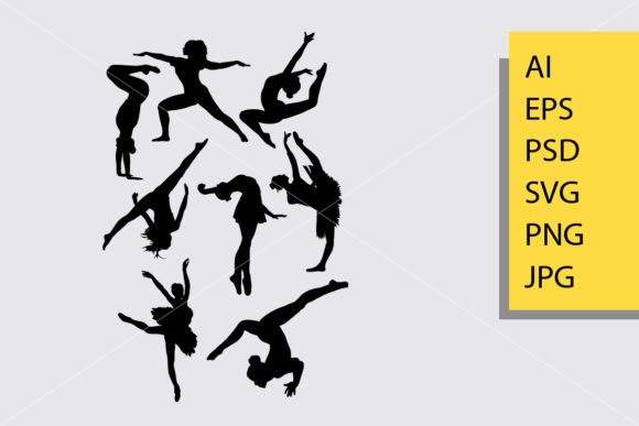 Dancing 3 Silhouette Graphic By Cove703