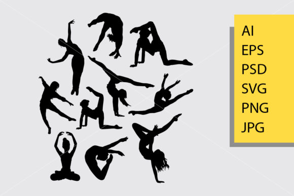 Dancing 4 Silhouette Graphic Illustrations By Cove703