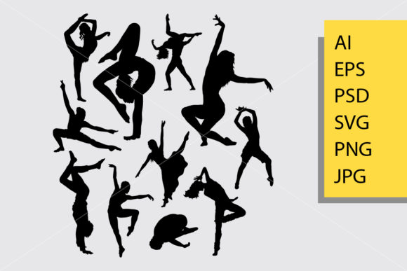 Dancing 5 Silhouette Graphic By Cove703