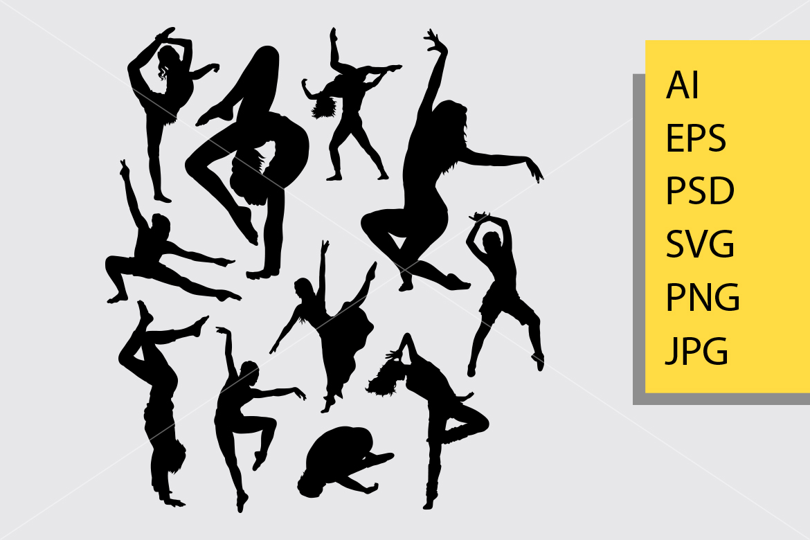 Download Free Dancing 5 Silhouette Graphic By Cove703 Creative Fabrica SVG Cut Files