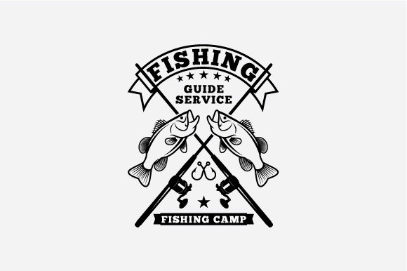 Download Free Fishing Logo Graphic By Octopusgraphic Creative Fabrica for Cricut Explore, Silhouette and other cutting machines.