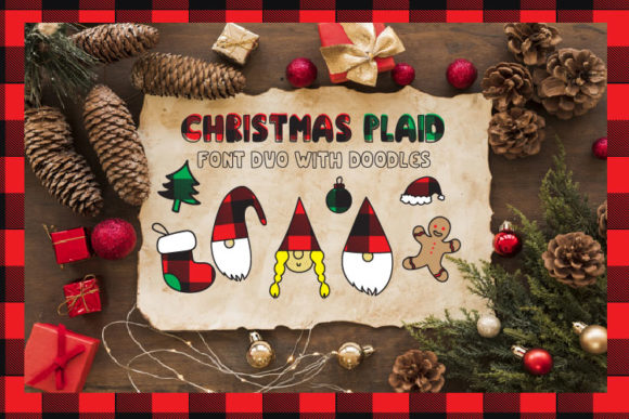 Christmas Plaid Font By Cute files Image 8