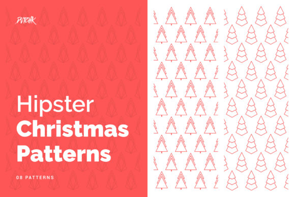 Hipster Christmas Patterns Graphic By dvtchk
