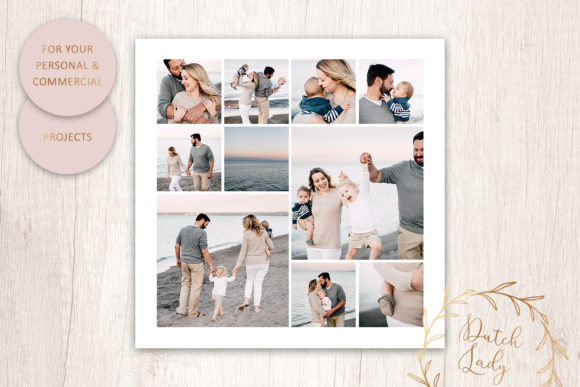 Download Free Psd Photo Image Collage Template 2 Graphic By Daphnepopuliers for Cricut Explore, Silhouette and other cutting machines.