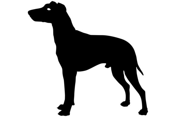 Download Free Male Manchester Terrier Dog Silhouette Graphic By for Cricut Explore, Silhouette and other cutting machines.