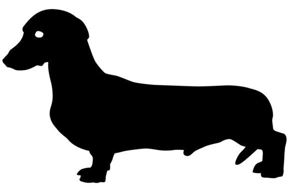 Download Free Dachshund Dog Silhouette Graphic By Idrawsilhouettes Creative for Cricut Explore, Silhouette and other cutting machines.
